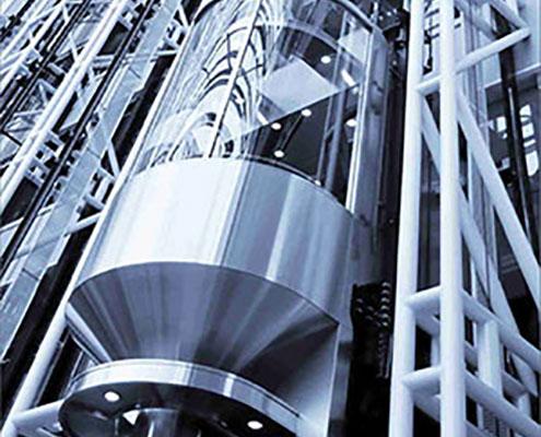 elevatori acciaio e vetro